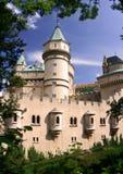 美丽的城堡Bojnice 免版税库存图片