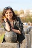 美丽的城市妇女年轻人 图库摄影