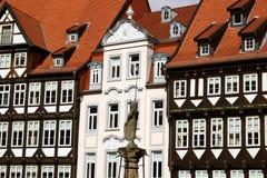 美丽的城市德国hildeshe市场 库存照片