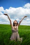 美丽的域绿色irl年轻人 免版税库存图片