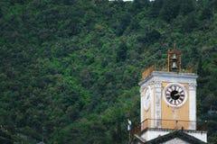 美丽的塔在米诺利,马奥莱,Vescovado,阿马尔菲海岸,褶皱藻属,意大利 免版税库存图片