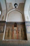 美丽的墙壁在Vank大教堂,伊斯法罕,伊朗里 库存图片