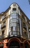 美丽的壁角房子 免版税图库摄影