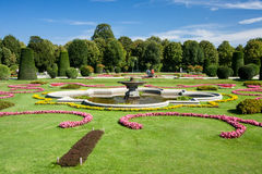 美丽的夏天Schonbrunn公园 免版税库存图片