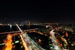 美丽的夜海角 免版税库存照片
