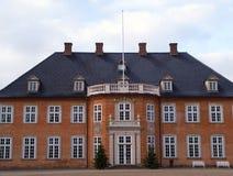 美丽的大丹麦庄园房子豪宅 免版税库存照片