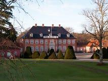 美丽的大丹麦庄园房子豪宅 图库摄影