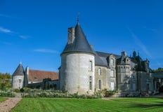 美丽的大别墅在卢瓦尔河 免版税库存图片
