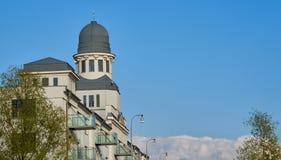 美丽的大厦在多瑙河附近的布拉索夫 免版税库存照片