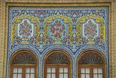美丽的大厦在Golestan宫殿,德黑兰,伊朗 免版税库存照片