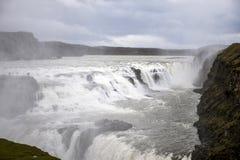 美丽的大古佛斯瀑布瀑布在冰岛3 免版税库存照片