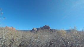 美丽的大峡谷国家公园的鸟瞰图从那瓦伙族人点的南外缘 股票视频