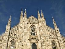 美丽的大教堂在米兰 免版税库存图片