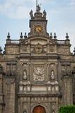 美丽的大教堂的元素Zocalo的,墨西哥城 库存照片
