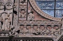 美丽的大教堂铭刻了欧洲楼层被镶嵌的意大利大理石面板siena 意大利 免版税库存照片