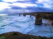 美丽的大洋路,维多利亚,澳大利亚的惊人的看法 图库摄影
