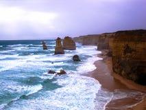 美丽的大洋路,维多利亚,澳大利亚的惊人的看法 库存照片