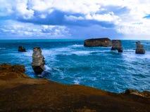 美丽的大洋路,维多利亚,澳大利亚的惊人的看法 免版税库存图片