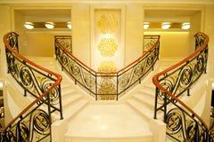 美丽的大理石台阶 免版税库存照片