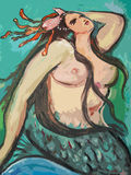 美丽的大美人鱼 免版税库存图片