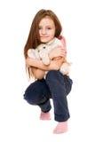 美丽的大象女孩少许女用连杉衬裤 免版税库存图片
