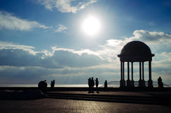 美丽的天空和云彩在亚速号海 库存照片