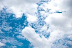 美丽的天空和云彩 库存图片