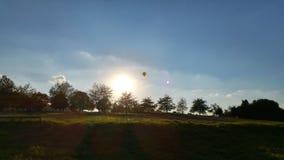 美丽的天空和日落 免版税库存图片