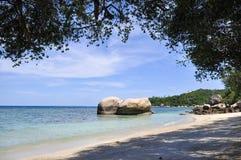 美丽的天空和海滩 免版税库存照片