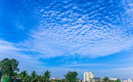 美丽的天空画象 免版税库存照片
