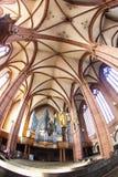 美丽的天花板和大厅圆顶的 免版税库存图片