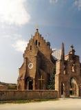 美丽的天主教会在村庄Butsniv 免版税库存照片