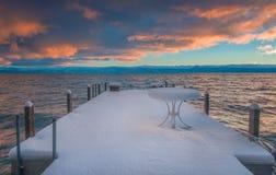 美丽的太浩湖加利福尼亚 库存照片