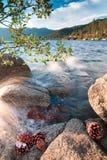 美丽的太浩湖加利福尼亚 库存图片
