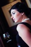 美丽的夫人样式葡萄酒 库存图片