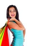 美丽的夫人Shopping 免版税库存图片