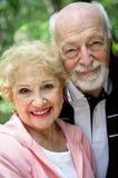 美丽的夫妇前辈 免版税库存照片