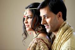 美丽的夫妇印地安人 免版税库存图片