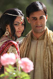美丽的夫妇印地安人 免版税库存照片