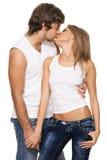 美丽的夫妇年轻人 库存图片