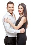美丽的夫妇愉快的纵向微笑的年轻人 库存图片