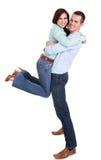 美丽的夫妇纵向年轻人 免版税库存照片