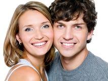 美丽的夫妇纵向年轻人 免版税库存图片