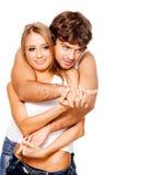 美丽的夫妇年轻人 免版税库存图片
