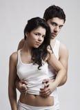 美丽的夫妇年轻人 免版税图库摄影