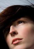 美丽的头发妇女 免版税库存照片