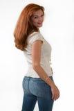 美丽的头发红色妇女 库存图片