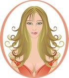 美丽的头发长的风格化妇女 免版税图库摄影