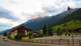 美丽的奥地利高山谷 库存图片