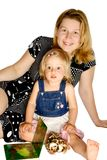 美丽的女儿母亲 免版税图库摄影